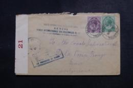 AFRIQUE DU SUD - Enveloppe ( Vendue Par L'Agence Intern. Des PG)  Pour La Suisse En 1918 Avec Contrôle Postal - L 47887 - Afrique Du Sud (...-1961)