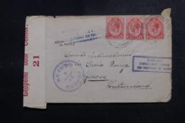 AFRIQUE DU SUD - Enveloppe ( Vendue Par L'Agence Intern. Des PG)  Pour La Suisse En 1918 Avec Contrôle Postal - L 47888 - Afrique Du Sud (...-1961)