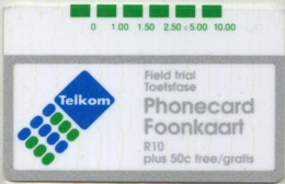South Africa Telcom Trial Card R10 Mint - Südafrika