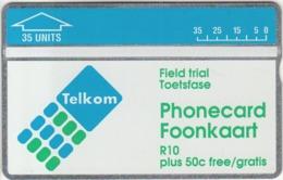 South Africa Telcom Trial Card 35 Units Cn.207A - Afrique Du Sud