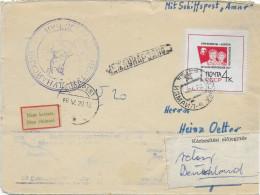 1966 - MARITIME / SCHIFFSPOST - URSS - ENVELOPPE Par PAQUEBOT => BUDAPEST => ALLEMAGNE - Marcophilie - EMA (Empreintes Machines)