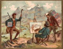 CHROMO HUNTLEY & PALMERS FABRICANTS DE BISCUITS READING & LONDRES  LE PEINTRE - Altri