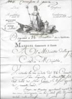 Département Conquis Lettre De Bergamo AN 6 Manzoni Commissaire De Guerre - Documentos Históricos