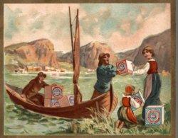 CHROMO HUNTLEY & PALMERS FABRICANTS DE BISCUITS READING & LONDRES  LA LIVRAISON PAR BATEAU - Altri