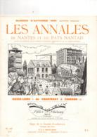 Les Annales De NANTES (44), BASSE LOIRE, De CHANTENAY à COUERON, 40 Pages, De 1966, Voies Antiques, INDRE, - Pays De Loire