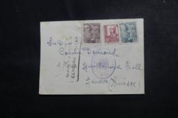 ESPAGNE - Cachets De Censures Sur Enveloppe De Santander Pour La Suisse En 1940 - L 47892 - Marques De Censures Nationalistes