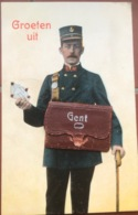 (1890) Groeten Uit Gent - Postbode Met Wandelstok - Gent