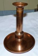 ANCIEN VIEUX BOUGEOIR EN CUIVRE 21 CM - Coppers
