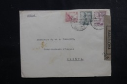 ESPAGNE - Enveloppe De Barcelone Pour La Suisse En 1943 Avec Contrôle Postal - L 47894 - Marques De Censures Nationalistes