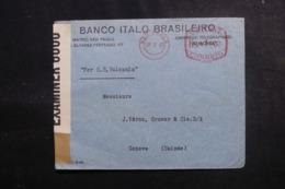 BRÉSIL - Enveloppe Commerciale De Sao Paulo Pour La Suisse En 1940 Avec Contrôle Postal - L 47895 - Briefe U. Dokumente