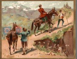 CHROMO HUNTLEY & PALMERS FABRICANTS DE BISCUITS READING & LONDRES  TRANSPORT A DOS DE MULETS - Altri