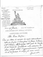 REPUBLIQUE CISALPINE Lettre De MILAN  AN 7 Département De La Guerre - Documentos Históricos