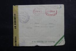 BRÉSIL - Enveloppe Commerciale De Sao Paulo Pour La Suisse En 1944 Avec Contrôles Postaux - L 47900 - Briefe U. Dokumente