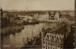 Oostende - Ostende // Panorama Vers La Nouvelle Gare Maritime 19?? Carte Luxe Thomas /met Censure Militaire Stempel - Oostende