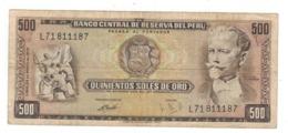 Peru 500 Soles De Oro, 1973 , F/VF. - Perú