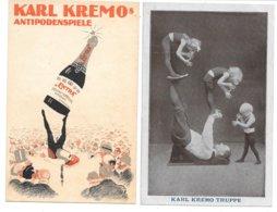 Circus - Akrobatik - Karl Kremo Antipodenspiele - 3 Old Postcard - Circus