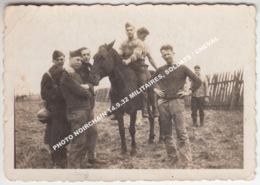 PHOTO NOIRCHAIN 14.9.32 (FRAMERIES - BERGEN) MILITAIRES, SOLDATS / CHEVAL - Frameries