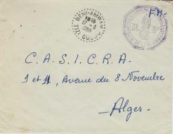 1950- Enveloppe En F M De BENI-AMRAN / TIZI-OUZOU Cad Facteur Receveur  Avec Cachet Gendarmerie  Brigade De Beni-Amran - Algeria (1924-1962)