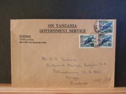 A11/861  LETTRE POUR LA BELG. - Tansania (1964-...)