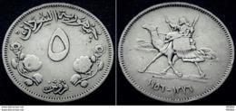SUDAN - 5 Ghirsh - KM 34 - 1956  - VVVRARE - Sudan
