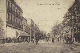 TUNISIE - TUNIS - Avenue De France - Voyagée 1933 - Tunisia