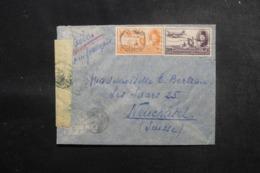 EGYPTE - Enveloppe Du Caire Pour La Suisse En 1949 Avec Contrôle Postal , Affranchissement Plaisant - L 47912 - Lettres & Documents