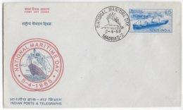 "1965 - MARITIME - INDIA - ENVELOPPE FDC De ""NATIONAL MARITIME DAY"" à MADRAS - FDC"