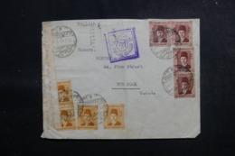 EGYPTE - Enveloppe De Alexandrie Pour New York En 1940 Avec Contrôle Postal , Affranchissement Plaisant - L 47913 - Lettres & Documents