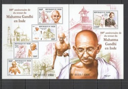 QQ052 2015 NIGER 100TH ANNIVERSARY RETURN GANDHI TO INDIA KB+BL MNH - Mahatma Gandhi