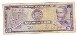 Peru 200 Soles De Oro, 1974 , VF. - Perú