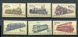 Tchecoslovaquie ** N° 1467 à 1472 - Locomotives Diverses - Ongebruikt
