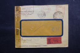 EGYPTE - Enveloppe Commerciale Du Caire En Recommandé Pour New York En 1943 Avec Contrôles Postaux - L 47917 - Lettres & Documents
