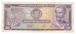 Peru 200 Soles De Oro, 1969 , VF. - Peru