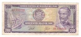 Peru 200 Soles De Oro, 1969 , VF. - Perú