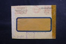 EGYPTE - Enveloppe Commerciale Du Caire  En 1943 Avec Contrôles Postaux - L 47919 - Lettres & Documents