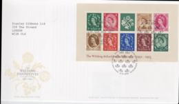 Great Britain FDC 2002 The Wilding Definitive Souvenir Sheet   (NB**L53A) - Briefmarken Auf Briefmarken