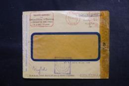 EGYPTE - Enveloppe Commerciale Du Caire  En 1943 Avec Contrôles Postaux - L 47920 - Lettres & Documents