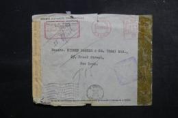 EGYPTE - Enveloppe Commerciale Du Caire Pour New York En 1943 Avec Contrôles Postaux - L 47921 - Covers & Documents