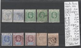 TIMBRE DE COLONIE DE GRANDE-BRETAGNE  NEUF*/ °/ EN L ETAT 1869-1904 Nr VOIR SUR PAPIER AVEC TIMBRES COTE 55.65  € - St.Lucia (...-1978)