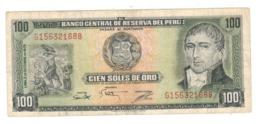 Peru 100 Soles De Oro, 1975 , VF. - Perú