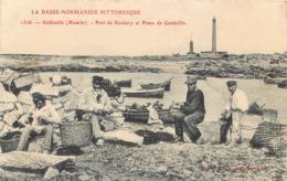 CPA 50 Manche Gatteville Port De Roubary Et Phare - LA Basse Normandie Pittoresque - Pecheurs - Otros Municipios