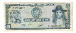Peru 50 Soles De Oro, 1975 , XF. - Peru