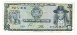 Peru 50 Soles De Oro, 1975 , AUNC - Perú
