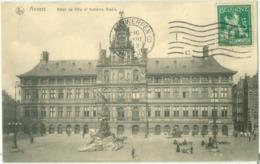 Anvers 1913; Hôtel De Ville Et Fontaine Brabo - Voyagé. (Nels - Bruxelles) - Antwerpen