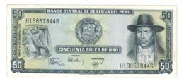 Peru 50 Soles De Oro, 1977 , AUNC/UNC. - Perú