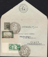Algérie YT 65 + 147 + France Libre (libération) N°1 Cachet Assemblée Consultative Provisoire Alger RF 10 11 43 1er Jour - Algérie (1924-1962)