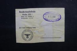 ALLEMAGNE - Devant De Colis En Franchise Pour La Suisse , à Voir - L 47924 - Allemagne