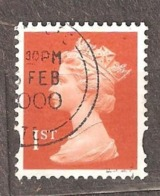 Great Britain: 1 Used Stamp From A Set, 1990, Mi#1282AS - Série 'Machin'