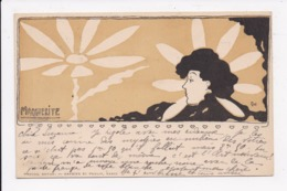CP ILLUSTRATEUR GUI Femme Marguerite - Illustrateurs & Photographes