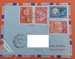 Vietnam 1965 N°YT 254 256 257 260 Buddhism UIT Communication - HUNG VUONG Anniversary / Voyagée Vers La France - Viêt-Nam